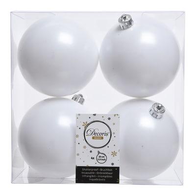 Box sfere bianche ø 10 cm