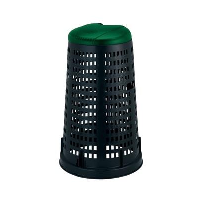 Trespolo con coperchio nero e verde satinato 100 L