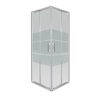 Box doccia scorrevole Sandra 68-70 x 88-90, H 190 cm cristallo 8 mm serigrafato/cromo