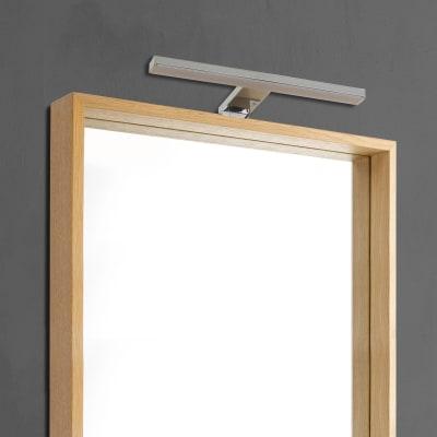 Luce da specchio Slim con kit multi attacco cromo 30 cm 5 W 330 Lumen led integrato IP44