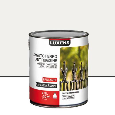Smalto per ferro antiruggine Luxens bianco brillante 2,5 L