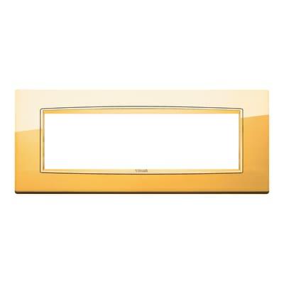 Placca 7 moduli Vimar Eikon Classic oro lucido