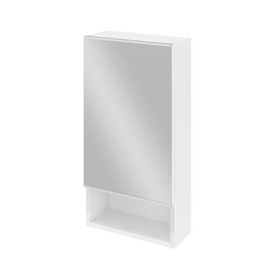 Armadietto a specchio Easy L 36,9 x H 73,3 x P  6,2 cm bianco lucido