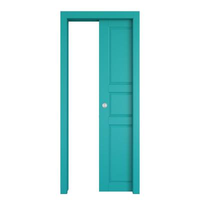 Porta da interno scorrevole New York azzurro 70 x H 210 cm reversibile