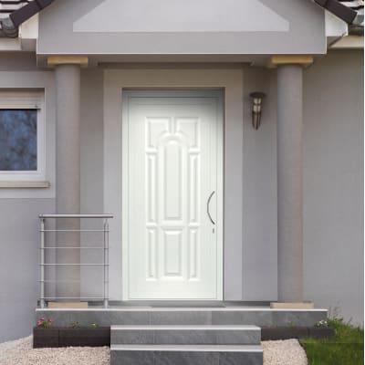 portoncino d'ingresso alluminio Classic1 bianco L 90 x H 210 sx