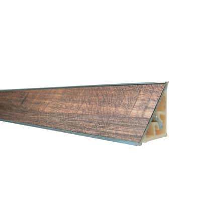 Alzatina alluminio noce L 300 x H 2,7 cm