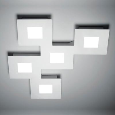 Plafoniera Squares bianco L 48 x H 4 cm