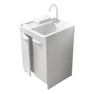 Mobile lavatoio Evo bianco L 60 x P  62,4 x H 84 cm