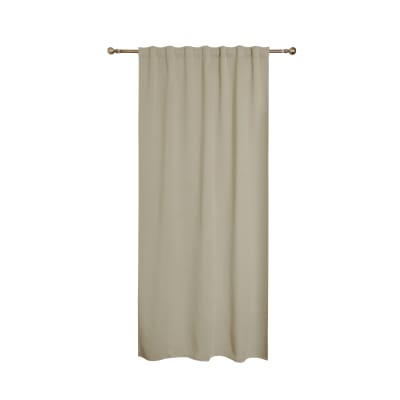 Tenda Oscurante fettuccia e passanti nascosti beige 140 x 280 cm
