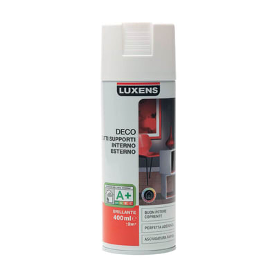 Smalto spray Deco Luxens Bianco Bianco brillante 400 ml