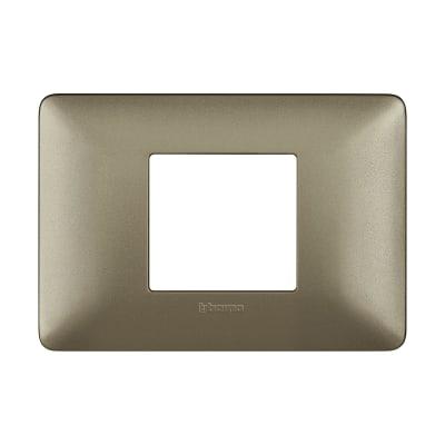 Placca 2 moduli BTicino Matix Titanium