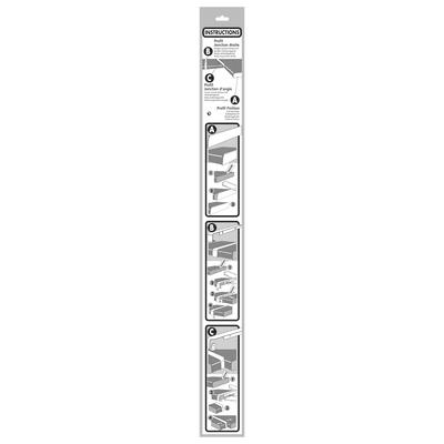 Profilo laterale alluminio grigio spazzolato L 67 cm