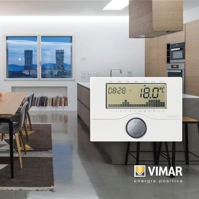 Cronotermostato vimar a batteria parete for Cronotermostato vimar 01910 manuale istruzioni