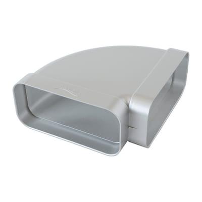 Curva piatta 90° Orizzontale ABS per tubo rettangolare steel L 6 - 12 cm