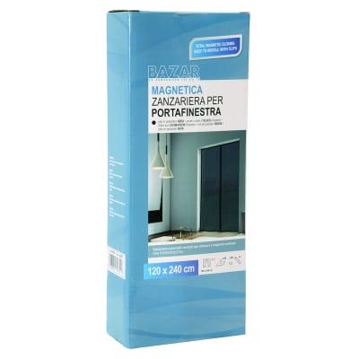 Zanzariera in kit magnetica a pannelli L 120 x H 240 cm