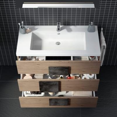 Mobile bagno Bark acero campestre L 105 cm