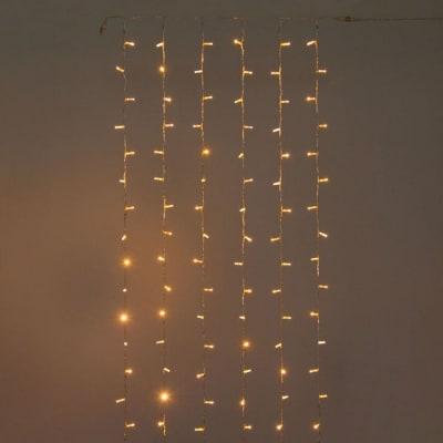 Tenda luminosa 144 maxilucciole Led classica gialla 3 m