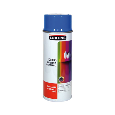 Smalto spray Deco Luxens blu cielo RAL 5015 brillante 400 ml