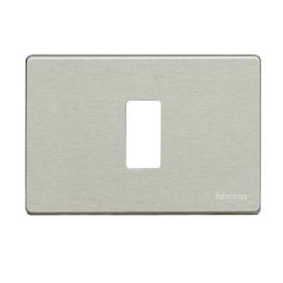Placca 1 modulo BTicino Magic alluminio