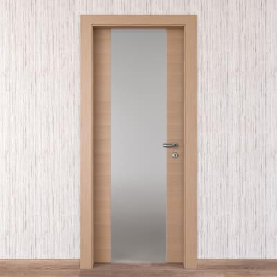 Porta da interno battente Sheraton rovere naturale 80 x H 210 cm sx