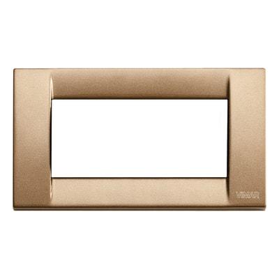 Placca 4 moduli Vimar Idea bronzo metallizzato