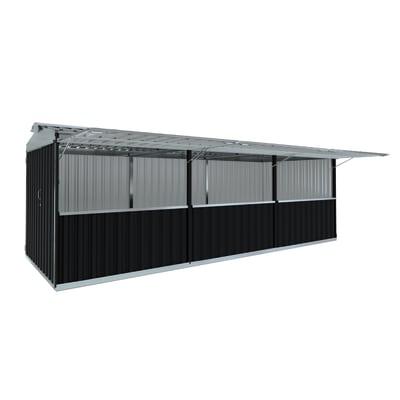 chiosco in metallo Cuba 19,13 m², 3 ribalte