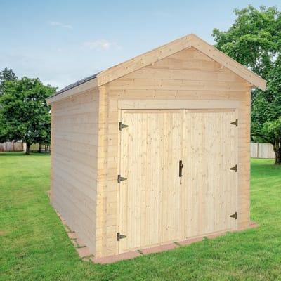 Garage in legno grezzo Hanna, 18,95 m²