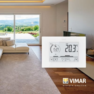 Termostato Vimar touch screen da parete bianco 02907 Wi-Fi