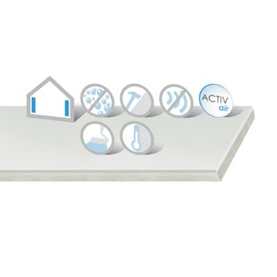 Lastra di cartongesso alta resistenza accoppiata con isolante idrofuga 120 x 200 cm, spessore 33 mm