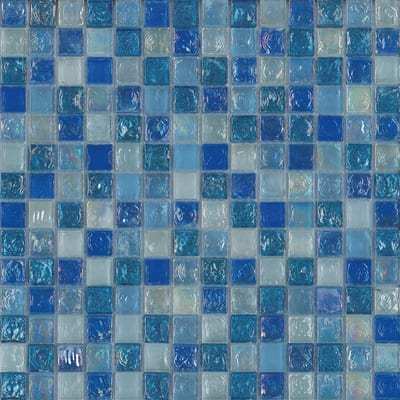 Mosaico Ice light sky 30,5 x 30 cm azzurro