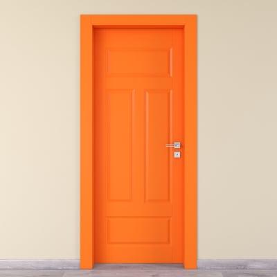 Porta da interno battente Coconut Groove arancio 60 x H 210 cm sx