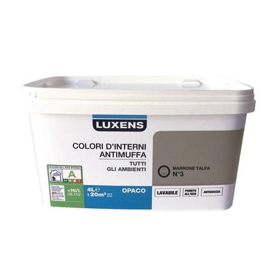Idropittura lavabile antimuffa marrone talpa 3 4 l for Antimuffa leroy merlin