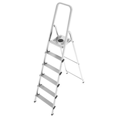 Scala domestica in acciaio-allumino 6 gradini