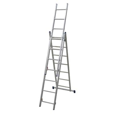 Scala sfilo alluminio Facal 3x7 gradini, per lavori fino a 5,1 m