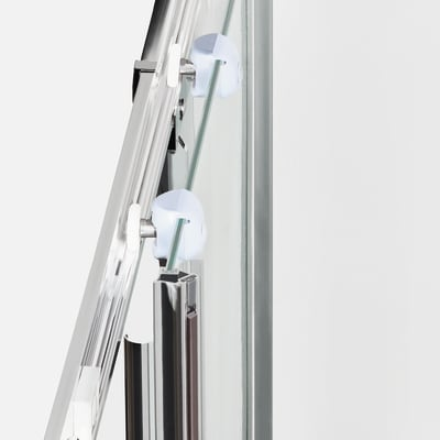 Box doccia scorrevole Nerea 67.5-77,5 x 79-89, H 185 cm cristallo 4 mm granito/silver