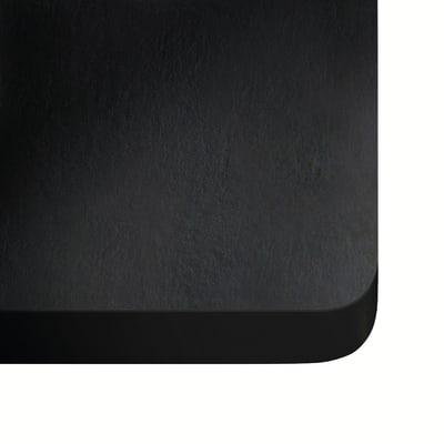 Alzatina su misura Sirius ultra compatto nero H 6 cm