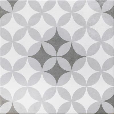Piastrella Gatsby 20 x 20 cm bianco, grigio