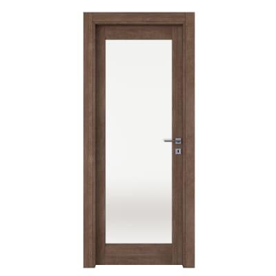 Porta da interno battente Gacrux tabacco 80 x H 210 cm sx