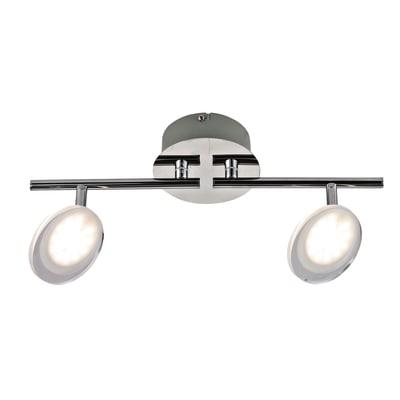 Barra a 2 luci Inspire Loob cromo LED integrato
