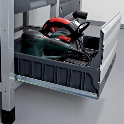 Banco da lavoro 2 cassetti,  L113 x H86 x P65  cm, portata 600 kg