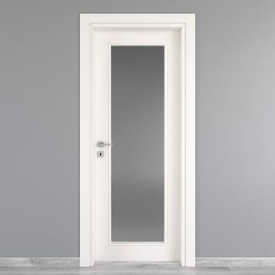 Porta da interno battente Moma Vetro bianco 60 x H 210 cm dx