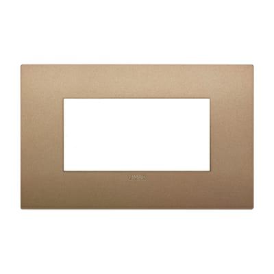 Placca 4 moduli Vimar Arké oro matt