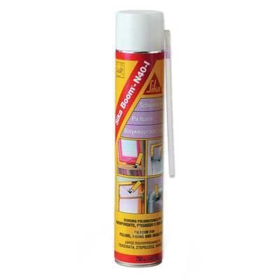 Schiuma poliuretanica Boom N40 giallo Sika 750 ml, per cemento, laterizi