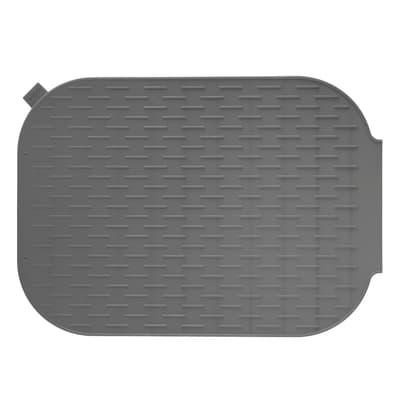 Sgocciolatoio tappetino scola stoviglie Rengo grigio L 39 x P 27 cm