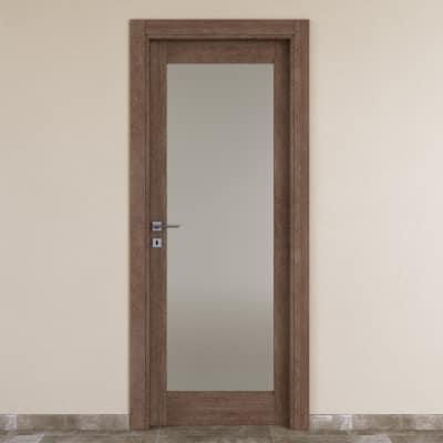 Porta da interno battente Gacrux tabacco 80 x H 210 cm dx