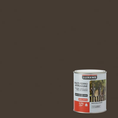 Smalto per ferro antiruggine Luxens Marrone Cioccolato 1 brillante 0,75 L