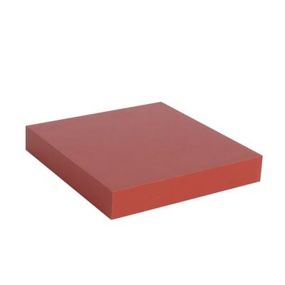 Mensola Spaceo rosso L 23 x P 23, sp 3,8 cm