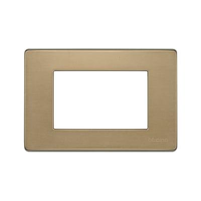 Placca 3 moduli BTicino Magic bronzo