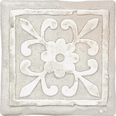 Piastrella Country Rilievo 10 x 10 cm bianco