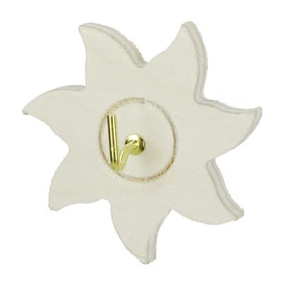 Gancio da parete adesivo Stella L 6,5 x H 6,5 mm